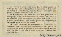 1 Franc FRANCE régionalisme et divers SAINT-BRIEUC 1918 JP.111.18 SPL à NEUF