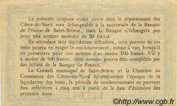 1 Franc FRANCE régionalisme et divers SAINT-BRIEUC 1918 JP.111.18 TTB à SUP