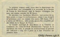 1 Franc FRANCE régionalisme et divers Saint-Brieuc 1918 JP.111.20 SPL à NEUF