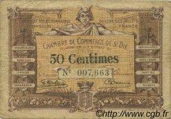 50 Centimes FRANCE régionalisme et divers Saint-Die 1915 JP.112.01 TB