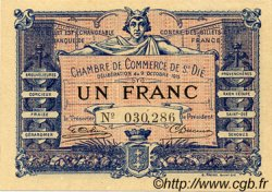 1 Franc FRANCE régionalisme et divers SAINT-DIE 1915 JP.112.03 TTB à SUP