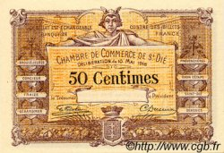 50 Centimes FRANCE régionalisme et divers Saint-Die 1916 JP.112.06 SPL à NEUF