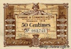 50 Centimes FRANCE régionalisme et divers SAINT-DIE 1917 JP.112.10 SPL à NEUF