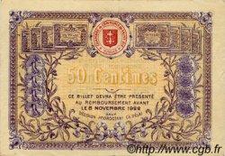 50 Centimes FRANCE régionalisme et divers SAINT-DIE 1917 JP.112.10 TTB à SUP