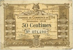 50 Centimes FRANCE régionalisme et divers SAINT-DIE 1917 JP.112.10 TB