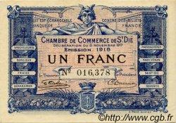 1 Franc FRANCE régionalisme et divers SAINT-DIE 1917 JP.112.11 TTB à SUP