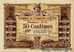 50 Centimes FRANCE régionalisme et divers SAINT-DIE 1918 JP.112.12