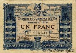 1 Franc FRANCE régionalisme et divers SAINT-DIE 1918 JP.112.13 TTB à SUP