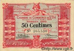 50 Centimes FRANCE régionalisme et divers Saint-Die 1920 JP.112.16 TTB à SUP