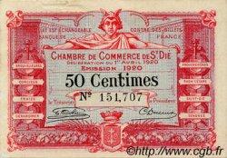 50 Centimes FRANCE régionalisme et divers Saint-Die 1920 JP.112.16 TB