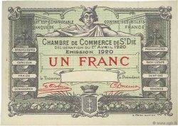 1 Franc FRANCE régionalisme et divers Saint-Die 1920 JP.112.20 SPL à NEUF