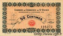 50 Centimes FRANCE régionalisme et divers SAINT-DIZIER 1915 JP.113.01