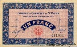 1 Franc FRANCE régionalisme et divers Saint-Dizier 1915 JP.113.06 TTB à SUP