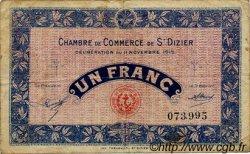 1 Franc FRANCE régionalisme et divers SAINT-DIZIER 1915 JP.113.06 TB