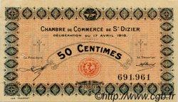 50 Centimes FRANCE régionalisme et divers Saint-Dizier 1916 JP.113.11 TTB à SUP
