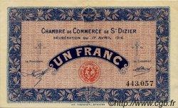 1 Franc FRANCE régionalisme et divers SAINT-DIZIER 1916 JP.113.12 TTB à SUP