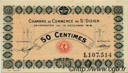 50 Centimes FRANCE régionalisme et divers SAINT-DIZIER 1916 JP.113.13 TTB à SUP