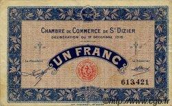 1 Franc FRANCE régionalisme et divers SAINT-DIZIER 1916 JP.113.14 TB