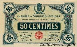 50 Centimes FRANCE régionalisme et divers SAINT-DIZIER 1920 JP.113.17 SPL à NEUF