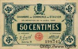 50 Centimes FRANCE régionalisme et divers SAINT-DIZIER 1920 JP.113.17 TTB à SUP