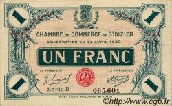 1 Franc FRANCE régionalisme et divers Saint-Dizier 1920 JP.113.19 TTB à SUP