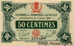 50 Centimes FRANCE régionalisme et divers SAINT-DIZIER 1921 JP.113.21 TTB à SUP