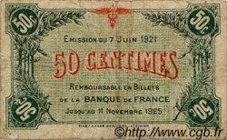 50 Centimes FRANCE régionalisme et divers SAINT-DIZIER 1921 JP.113.21 TB