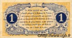 1 Franc FRANCE régionalisme et divers SAINT-ÉTIENNE 1914 JP.114.01 SPL à NEUF