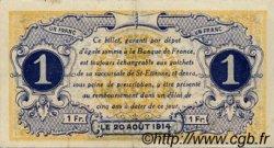 1 Franc FRANCE régionalisme et divers Saint-Étienne 1914 JP.114.01 TTB à SUP