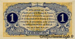 1 Franc FRANCE régionalisme et divers SAINT-ÉTIENNE 1914 JP.114.04 TTB à SUP