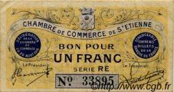 1 Franc FRANCE régionalisme et divers Saint-Étienne 1914 JP.114.04 TB
