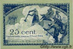 25 Centimes FRANCE régionalisme et divers Saint-Étienne 1921 JP.114.05 TTB à SUP