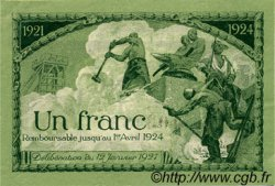 1 Franc FRANCE régionalisme et divers Saint-Étienne 1921 JP.114.07 TTB à SUP