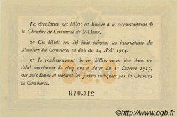 50 Centimes FRANCE régionalisme et divers SAINT-OMER 1914 JP.115.01 SPL à NEUF