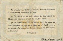 50 Centimes FRANCE régionalisme et divers Saint-Omer 1914 JP.115.01 TB
