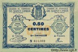 50 Centimes FRANCE régionalisme et divers SAINT-OMER 1914 JP.115.07 TTB à SUP