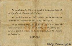 50 Centimes FRANCE régionalisme et divers SAINT-OMER 1914 JP.115.07 TB