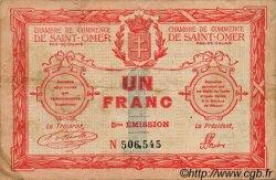 1 Franc FRANCE régionalisme et divers SAINT-OMER 1914 JP.115.10 TB