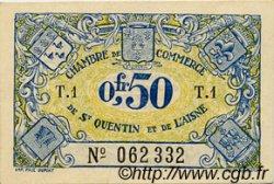 50 Centimes FRANCE régionalisme et divers SAINT-QUENTIN 1918 JP.116.01 SPL à NEUF