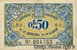 50 Centimes FRANCE régionalisme et divers Saint-Quentin 1918 JP.116.01 TTB à SUP