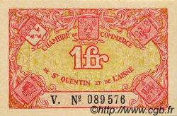 1 Franc FRANCE régionalisme et divers SAINT-QUENTIN 1918 JP.116.03 SPL à NEUF