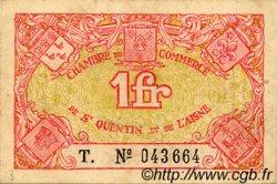 1 Franc FRANCE régionalisme et divers SAINT-QUENTIN 1918 JP.116.03 TTB à SUP