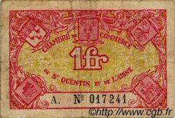 1 Franc FRANCE régionalisme et divers SAINT-QUENTIN 1918 JP.116.03 TB