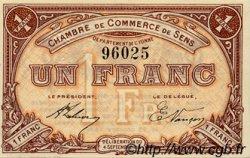 1 Franc FRANCE régionalisme et divers SENS 1915 JP.118.01 SPL à NEUF