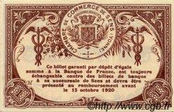 1 Franc FRANCE régionalisme et divers SENS 1915 JP.118.01 TTB à SUP