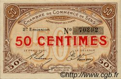 50 Centimes FRANCE régionalisme et divers SENS 1916 JP.118.02 TTB à SUP