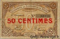 50 Centimes FRANCE régionalisme et divers SENS 1916 JP.118.02 TB