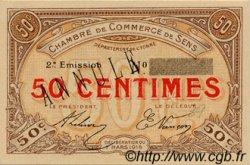 50 Centimes FRANCE régionalisme et divers SENS 1916 JP.118.03 SPL à NEUF