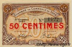 50 Centimes FRANCE régionalisme et divers Sens 1920 JP.118.10 SPL à NEUF