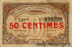 50 Centimes FRANCE régionalisme et divers SENS 1920 JP.118.10 TB